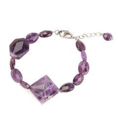 天然紫晶手链 货号111393