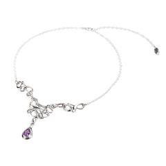 梦幻紫水晶项链 货号113006