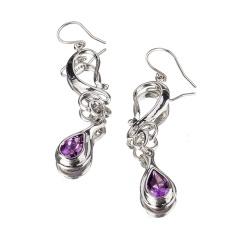 梦幻紫水晶耳坠