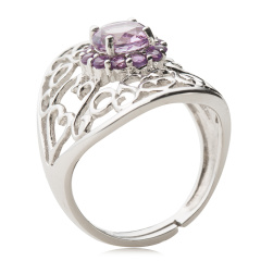 Chateau天然紫晶石戒指 货号114129