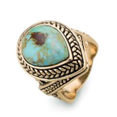 BARSE异域风情绿松石戒指