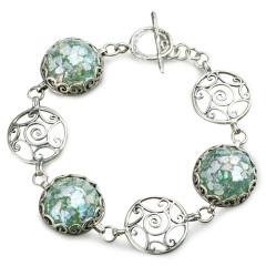 Zuman玻璃螺纹手链 货号114444
