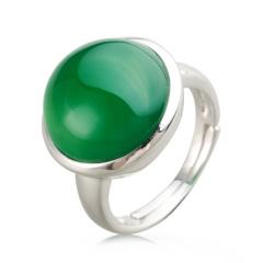 AN.圆形绿玛瑙戒指 货号116348