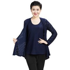 N.L女式针织开衫两件套