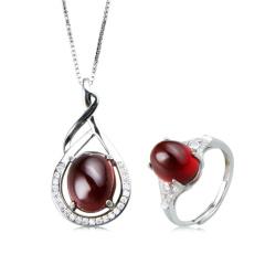 泰金嘉珠宝石榴石两件套 货号117564