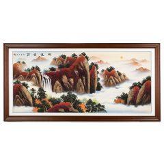《鸿运当头》天然岩砂实景画 货号119033