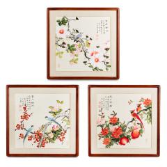《鸟语花香》国画精品斗方 货号120416