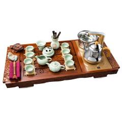 龙凤呈祥刺猬紫檀茶具字画组 货号121414