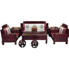 世锦豪庭红木软包沙发9件套 货号121855