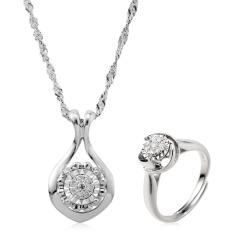 翠璨珍爱奢华天然钻石戒指套组 货号122366