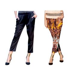 今昇时尚蚕丝裤两条组  货号122620