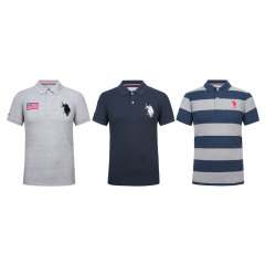U.S.POLO ASSN.男士经典T恤组  货号122632