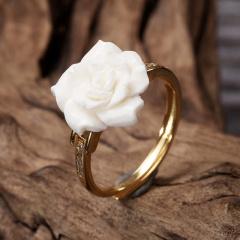 千源印象繁花似锦玫瑰花戒指