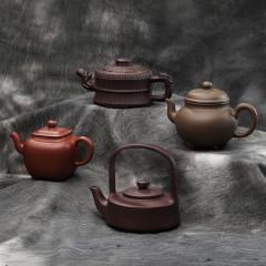 传世四氏壶王紫砂茶具套组