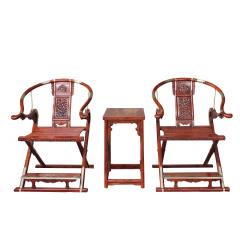 海南黄花梨交椅套组