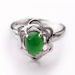 DODOBEL WOMAN日韩女性925银镶嵌玉髓戒指