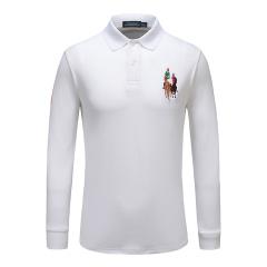 皇家棕榈马球俱乐部纯色翻领长袖POLO衫13753103