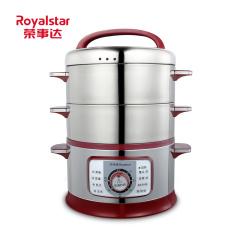 荣事达家用多功能大电蒸锅不锈钢三层大容量电蒸笼