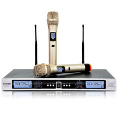 韩国现代 无线麦克风电脑k歌U段电容话筒双手麦KTV舞台专用