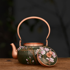 中艺盛嘉霍铁辉玉堂富贵紫铜壶商务礼品养生煮茶壶烧水壶纯手工