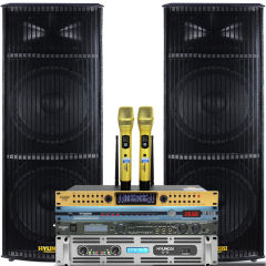 韩国现代15寸专业舞台音响套装 大功率强磁无源工程商用婚庆演出音箱