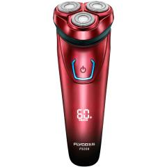 飞科(FLYCO) FS338智能电动剃须刀 全身水洗刮胡刀 中国红