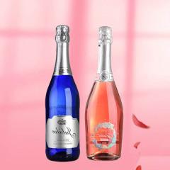 意大利进口朱丽叶桃红起泡+朱比莉低醇高起泡酒750ml 组合装