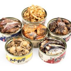 三浦堂 海鲜罐头组合装12罐    海鲜系列食品