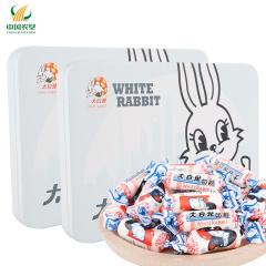 【中国农垦】冠生园 大白兔 经典味奶糖 铁听卡通兔系列 零食小吃休闲食品 160gx2盒