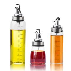 安瑞特 家用防漏高硼硅油瓶调料瓶酱油醋香油瓶三件套