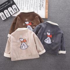 灯芯绒保暖儿童外套 卡通休闲潮流童装可爱上衣 秋冬新款童装外套