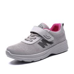 新款透气老人运动健步鞋 中老年妈妈鞋女单鞋防滑老人鞋子女