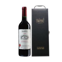 法国波尔多产区精品酿制巴菲干红葡萄酒单支礼盒装