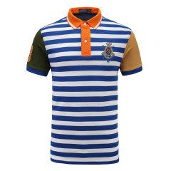 皇家棕榈马球俱乐部 男短袖条纹休闲POLO衫翻领男士T恤13528108