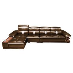 佛兰斯帝真皮客厅沙发套组 货号121966