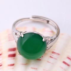 DODOBEL WOMAN简约女性925银镶嵌玉髓戒指