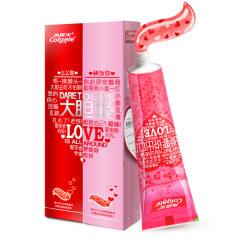 高露洁(Colgate)大胆爱心形牙膏粉色130g*1+红色130g*1