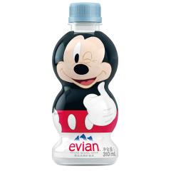 法国进口 依云(evian)天然矿泉水 趣味版310ml*24瓶 整箱装