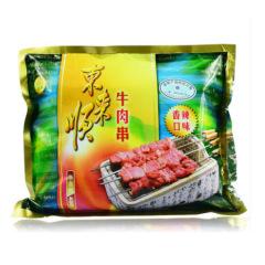 东来顺 精选牛肉 香辣味烧烤 纯牛肉串400g火锅食材 内蒙古牛肉