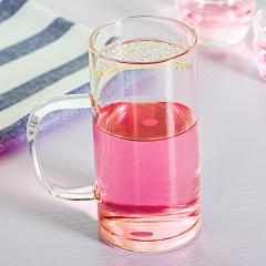 金镶玉 玻璃杯 月牙杯 手工耐热耐高温花茶杯水杯子