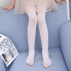儿童网袜高弹性舞蹈袜夏季防蚊袜裤女童打底袜可爱爱心日系丝袜