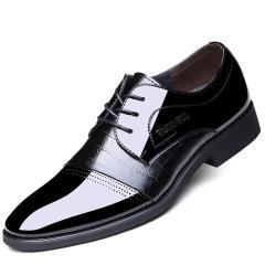 2020夏季新款男鞋商务正装尖头系带鞋子 男士皮鞋低帮