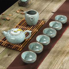 金镶玉 功夫茶具 山魂水韵哥窑套组 陶瓷茶具整套