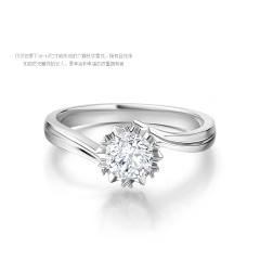 DODOBEL WOMEN18K金钻戒经典20分钻石显钻款式2017年特价新年礼物