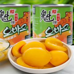 大连魁氏水果罐头超值组(黄桃10罐+什锦4罐)
