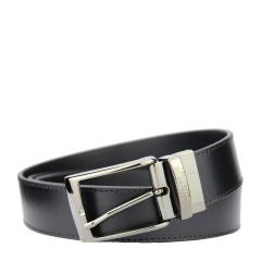 范思哲男士黑色可裁剪针扣腰带V91007S VM00046 V000