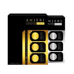 泰国Anjeri(原Ray)补水修复睡眠面膜(金+银)5g*8粒/盒共两盒