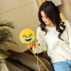 新款时尚韩版笑脸小圆包休闲表情单肩包斜挎可爱女生迷你小包