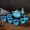 鼎匠手绘浮雕樱花茶具7件套家用茶具套装简约陶瓷功夫茶壶茶杯