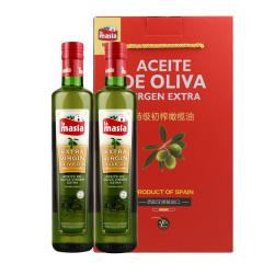 西班牙原装进口欧蕾特级初榨橄榄油500ml两瓶礼盒装
